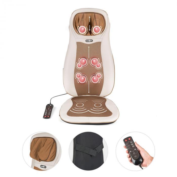 Niuwe Massage-Sitzauflage Shiatsu-Massage 3 Massagezonen beige