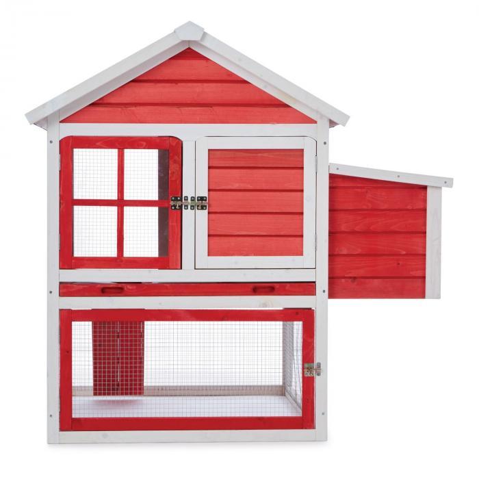Villa Gallo Hühnerstall Hühnerhaus 2 Legeplätze 120x122x127,5 cm Holz