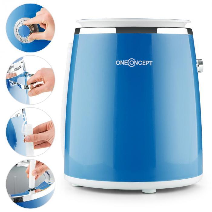 Ecowash-Pico Mini-Waschmaschine Schleuderfunktion 3,5 kg 380W blau