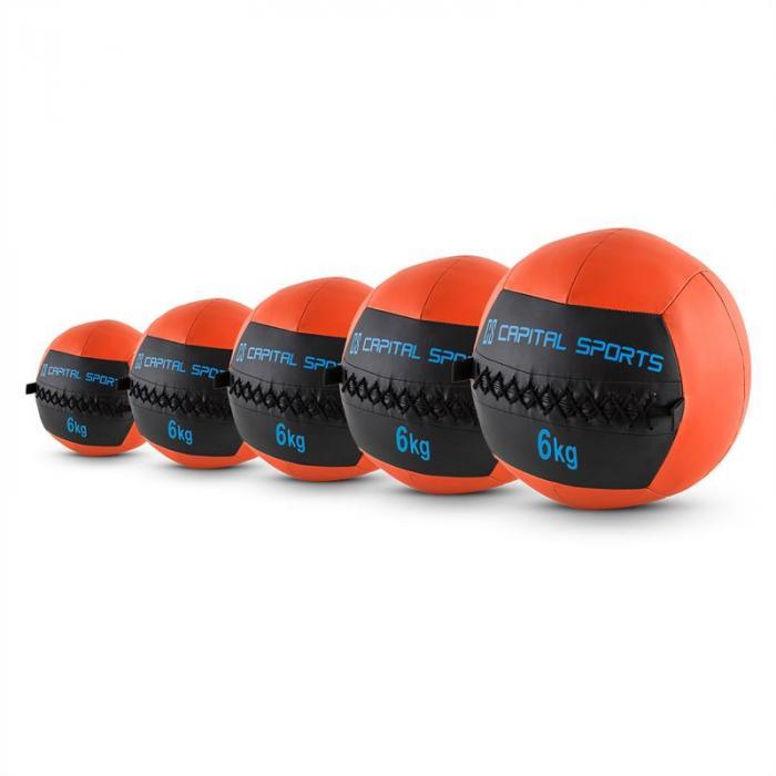 Epitomer Set Wall Ball 6kg Kunstleder 5 Stück orange
