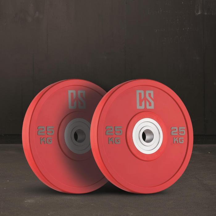 Performan Urethane Plates Gewichtsplatten Paar 25kg Rot