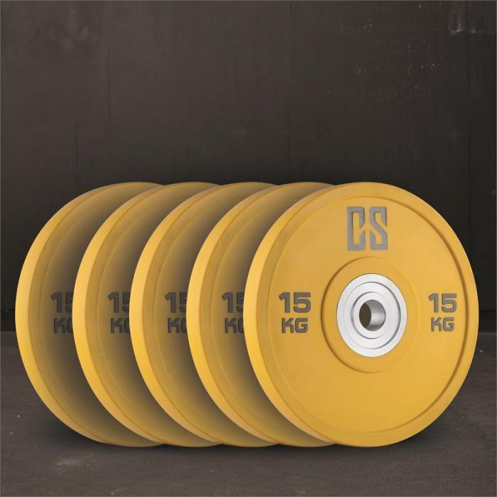Performan Urethane Plates Gewichtsplatten 5 Paar 15kg Gelb