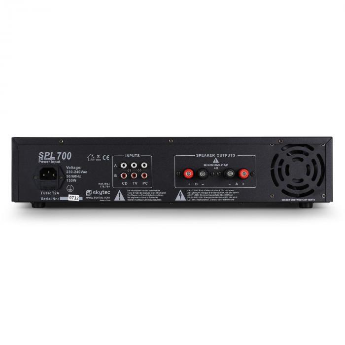 SPL700 DJ PA-Verstärker Audio LED 2000W Equalizer