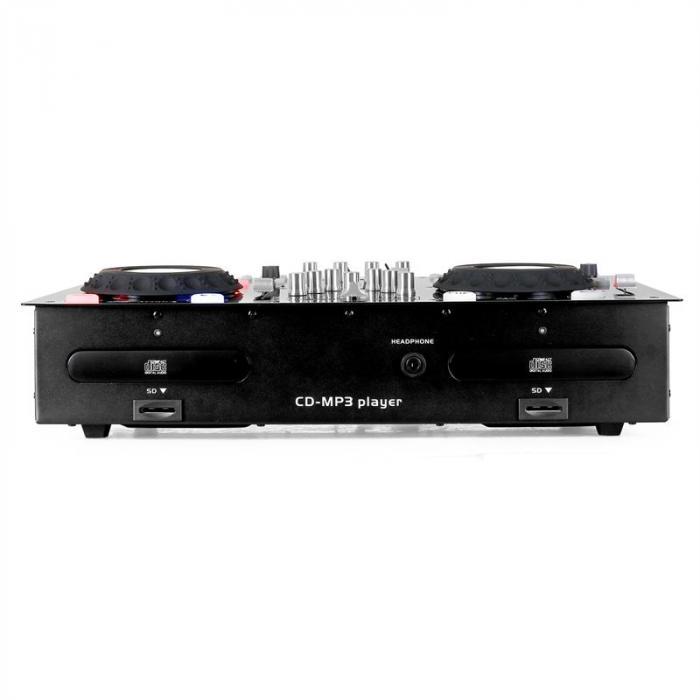 DJ Set Doppel CD-Player 2x USB 2x SD MP3 Scratch Mixer