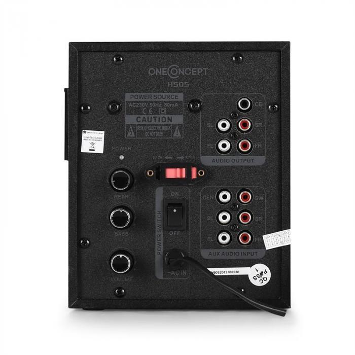 H505 aktives 5.1-Lautsprechersystem 35 Watt RMS schwarz