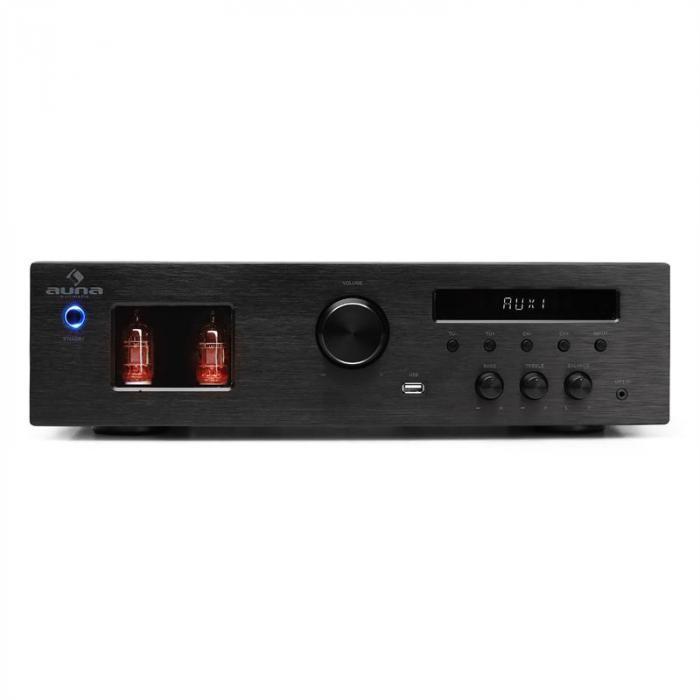 Tube 65 HiFi-Röhrenverstärker MP3 USB Receiver 2 x 60W RMS 600W max.