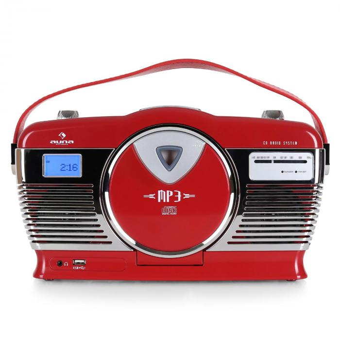 RCD-70 Retroradio UKW USB CD Batterie rot