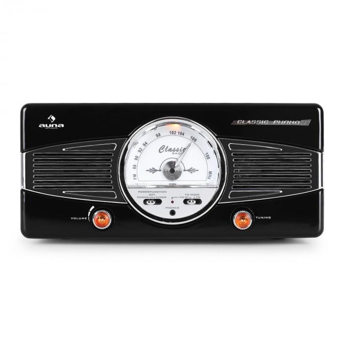 MG-TT-82B Plattenspieler UKW 50er Jahre Retro schwarz