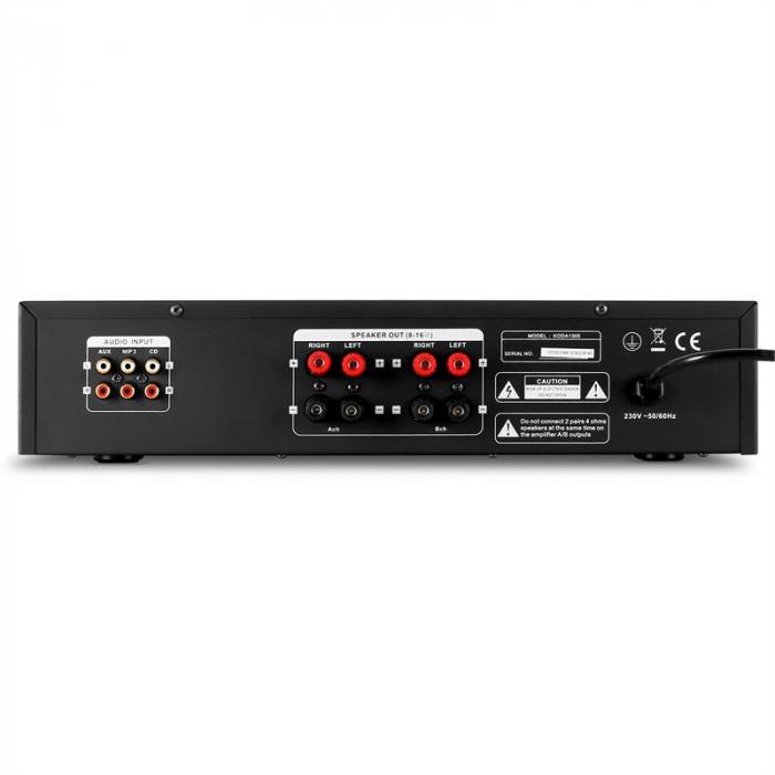1305 HiFi Stereo-Verstärker 2 x 140W RMS Schwarz AUX