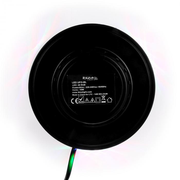 LED UFO Lichteffekt schwarz RGB
