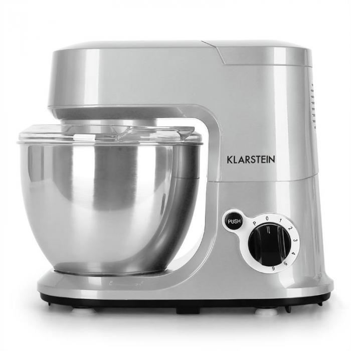 Carina Argentea Küchenmaschine 800W 1,1 PS 4 Liter silber