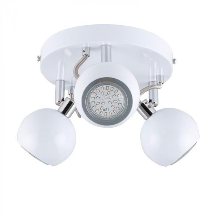 Mogren 3 Spotlampe LED 3x3W 250lm drehbar schwenkbar Chrom weiß Kl. A