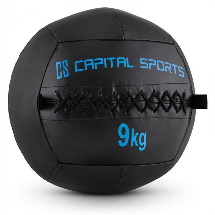 Epitomer Set Wall Ball 9kg Kunstleder 5 Stück schwarz