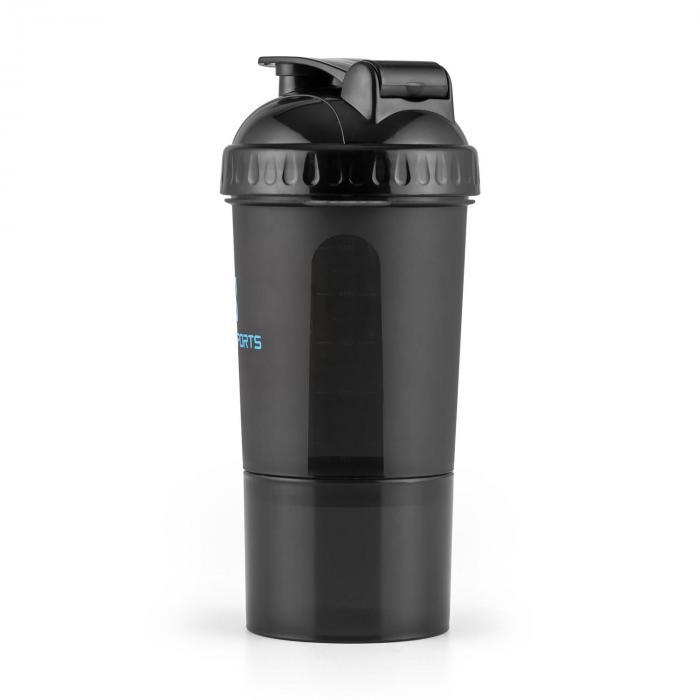 Shakster Eiweiß-Shaker 600ml Mixkugel Pillendose Schwarz