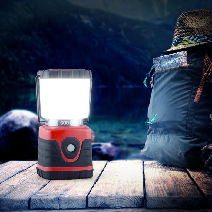 Yequuleus Campinglaterne LED 600 Lumen 150h 15m eckig rot