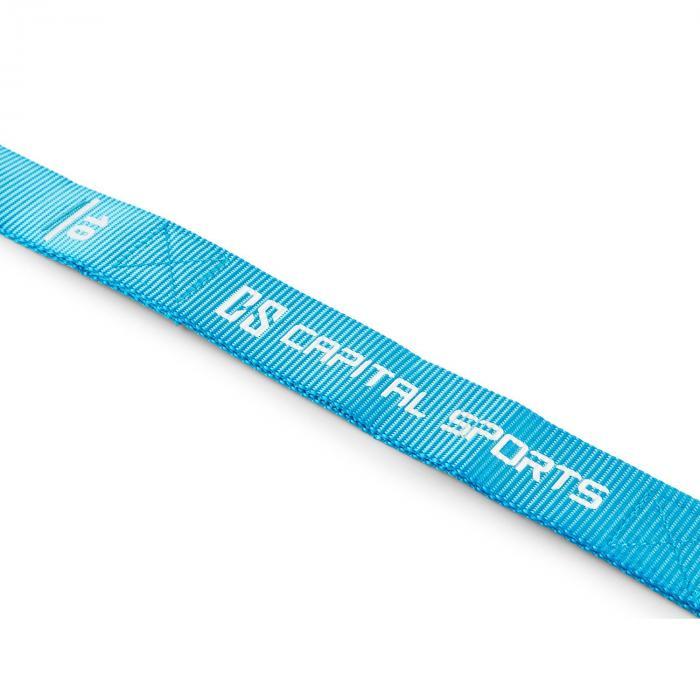 Addic Nylongurte 2 Stück Karabinerhaken Wettkampf-Standard blau