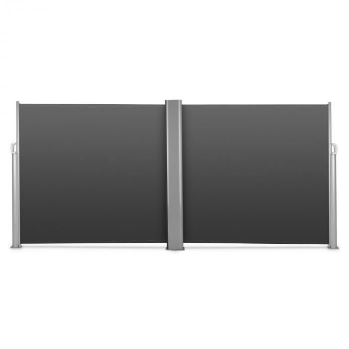 Bari Doppio 616 Doppel-Seitenmarkise 6x1,6m Aluminium anthrazit