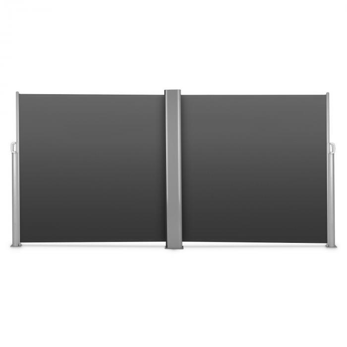 Bari Doppio 618 Doppel-Seitenmarkise 6x1,8m Aluminium anthrazit