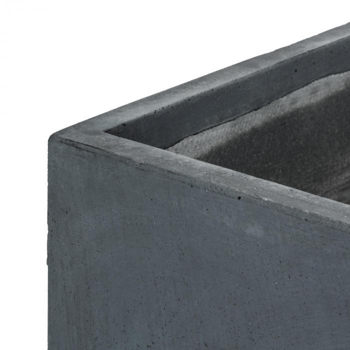 Solidflor Pflanzkübel Pflanzgefäß 40x80x40 cm Fiberton anthrazit