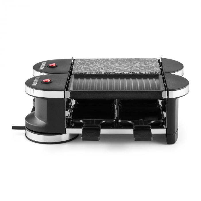 Tenderloin Mini Raclettegrill 600W 360°-Basis Grillplatte heißer Stein
