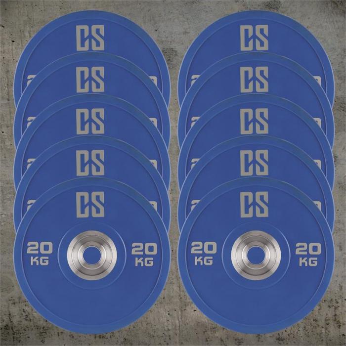 Performan Urethane Plates Gewichtsplatten 5 Paar 20kg Blau