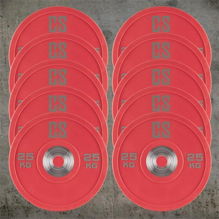 Performan Urethane Plates Gewichtsplatten 5 Paar 25kg Rot