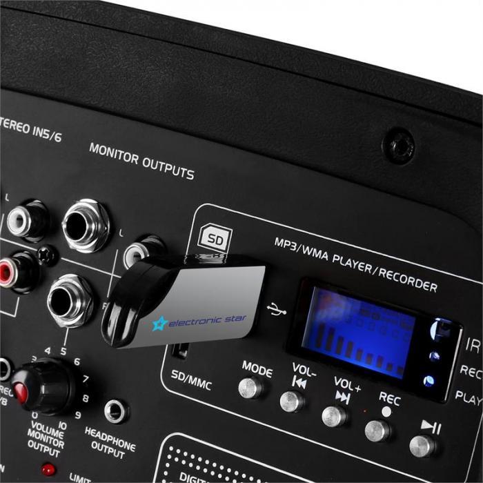 Combo210 PA-Lautsprecherboxen Paar USB SD 300W RMS AUX