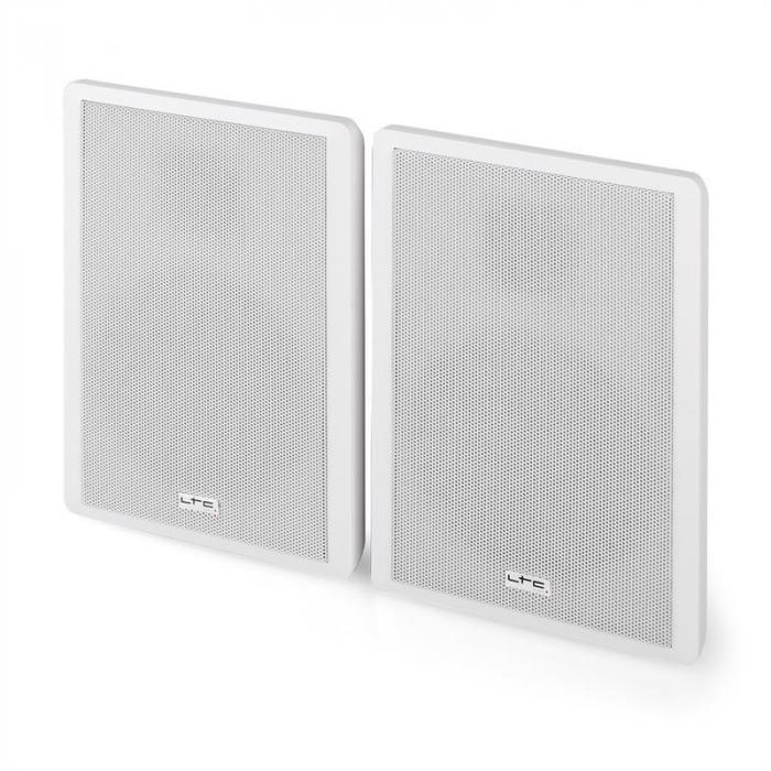 SSP501F-W Paar extra-flache 2-Wege-Wandlautsprecher weiß