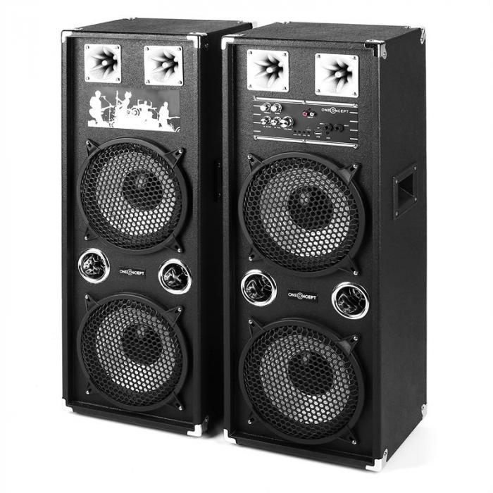 BSX-210A PA-Lautsprecher USB microSD AUX MIC 160W schwarz