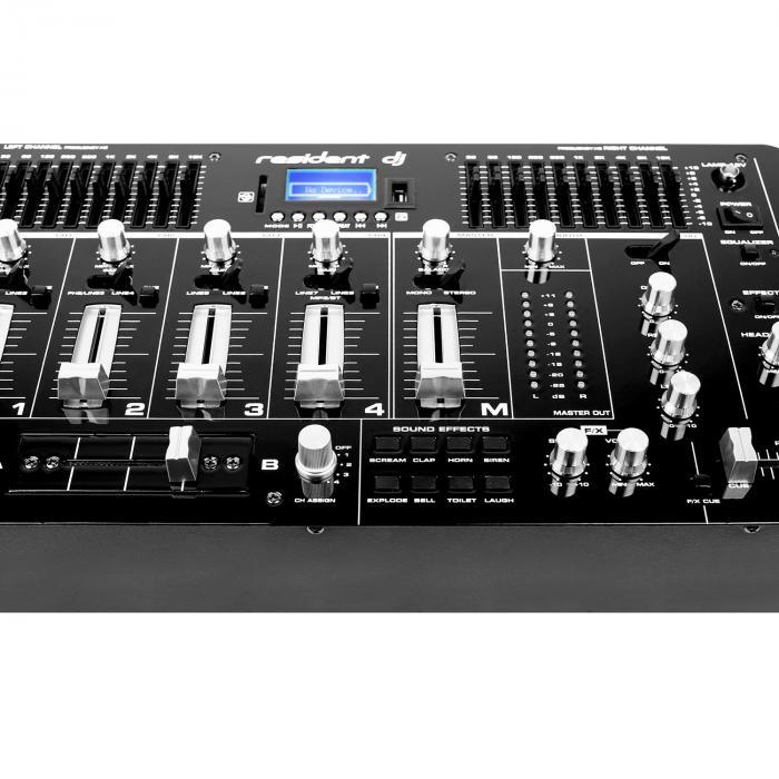 Kemistry 3 B 4-Kanal-DJ-Mischpult Bluetooth USB SD Phono schwarz