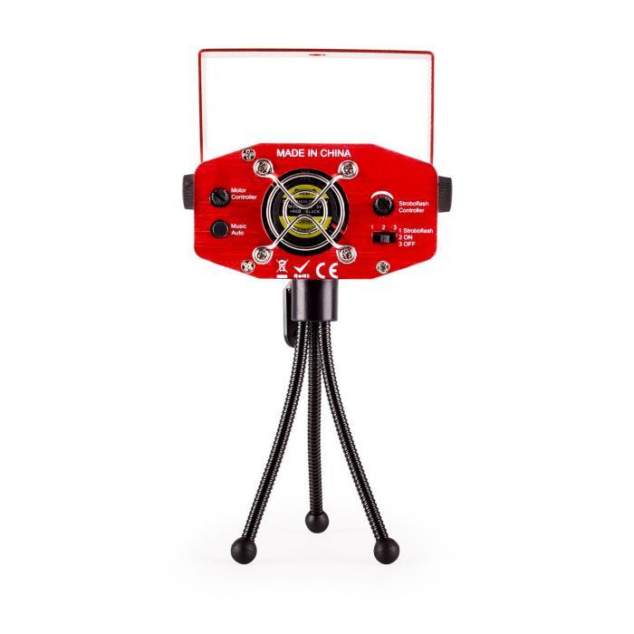 Firefly Showlaser-Lichteffekt Mini Laser Multipoint 130mW rot Stativ