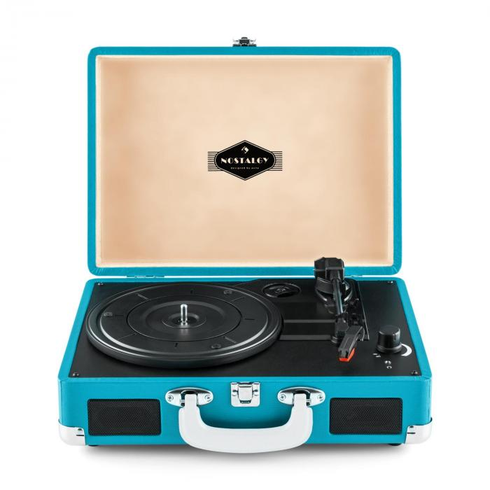 Peggy Sue Retro-Plattenspieler LP USB blau