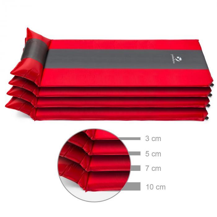 Goodsleep 5 Isomatte Luftmatratze 5cm dick selbstaufblasend rot-grau
