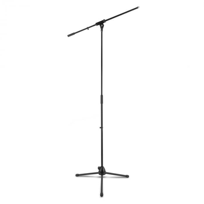 3x auna KM 02 Mikrofon-Set 4 tlg. Mikrofon Ständer Klemme Kabel 5m
