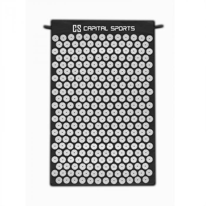 Eraser Yantramatte Massagematte Akupressur 80x50cm Schwarz