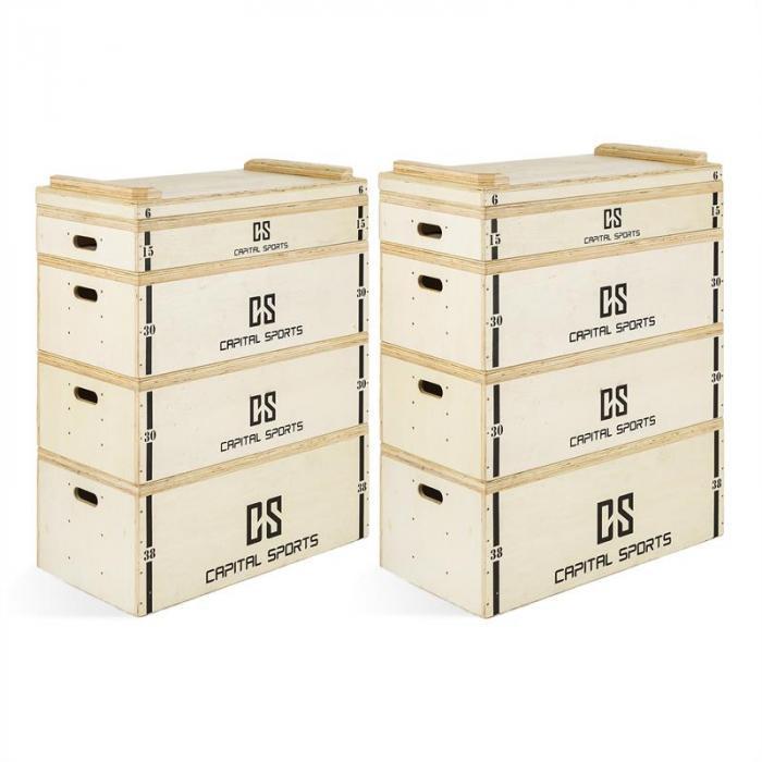 Indefea Jerk Block Set Holzboxen 2 x 5 Blöcke 120 cm Höhe