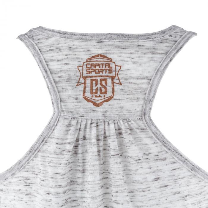 Trainings-Top für Frauen Size L Weiß marmoriert