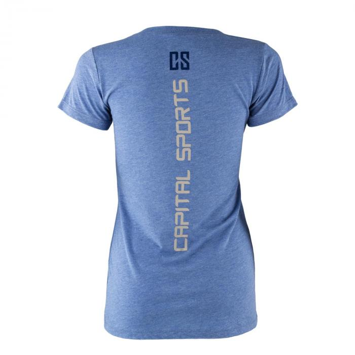 Trainings-T-Shirt für Frauen Size M Blau Tricolor