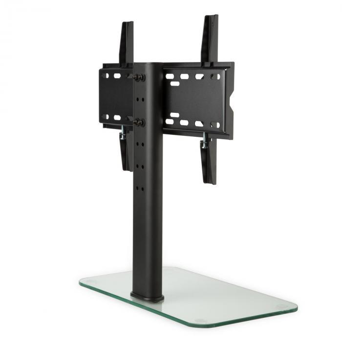 TV-Ständer Größe M Höhe 60 cm höhenverstellbar 23-47 Zoll Glasfuß