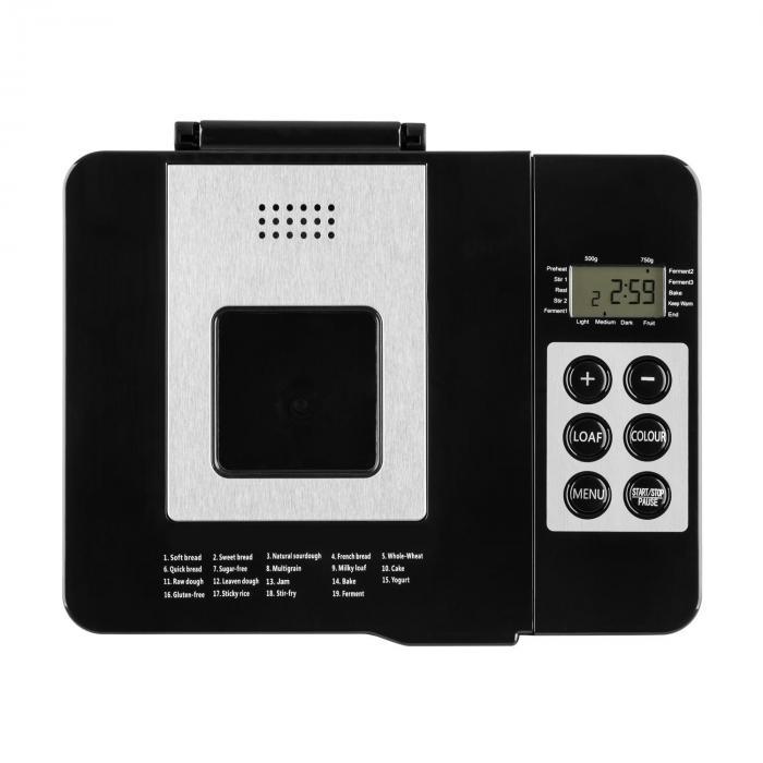 Krümelmonster Brotbackautomat 550 W 750 g edelstahl silber/schwarz