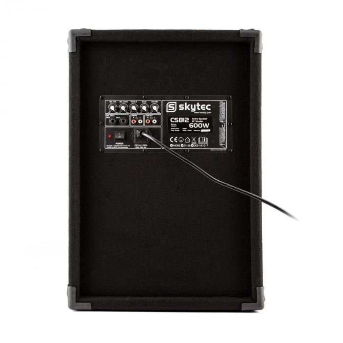 """CSB12 aktiver PA-Lautsprecher 30cm (12"""") 600W"""