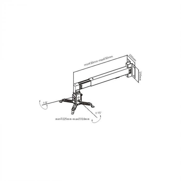 PRB-2W Beamer Wandhalterung Deckenhalterung flexibel