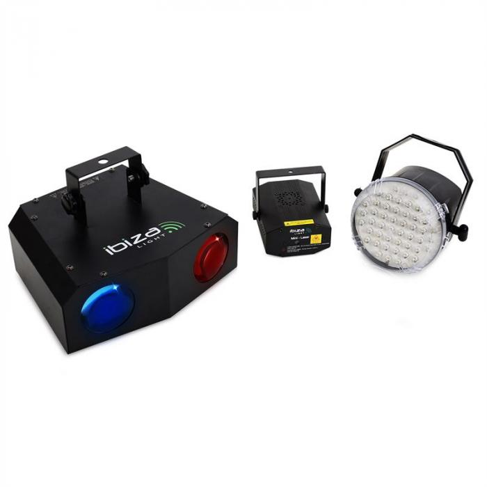 Night 'n Light Lichtset LED-Moonflower LED-Strobo Laser