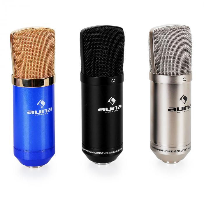Bühnen- & Studio Mikrofonset CM001S mit Mikrofon, Stativ & Mikrofonabschirmung