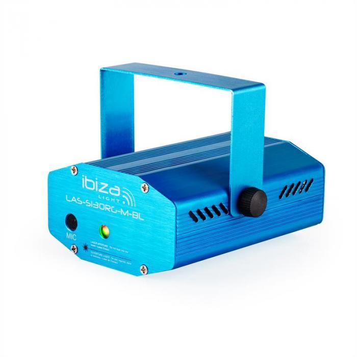 Firefly Showlaser-Lichteffekt Mini Laser Multipoint 130mW blau Stativ