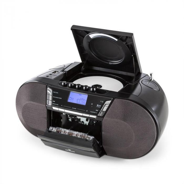 Jetpack portable Boombox USB CD MP3 UKW Batteriebetrieb schwarz