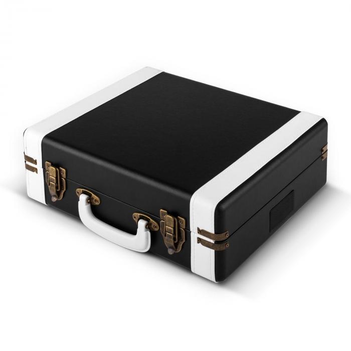 Jerry Lee Retro-Plattenspieler LP USB schwarz-weiß