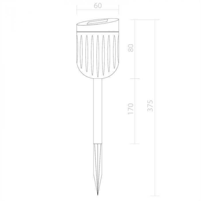 Tulipan Gartenlampe Solarleuchte 6er Set LED IP44 Akku Edelstahl