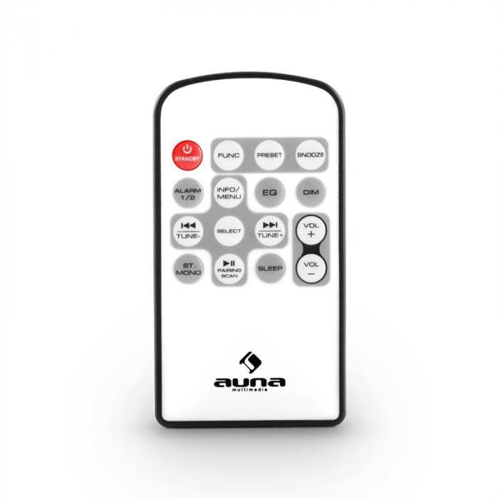 Nizza DAB+ Retro-Radio Bluetooth UKW AUX 2.1 Subwoofer weiß