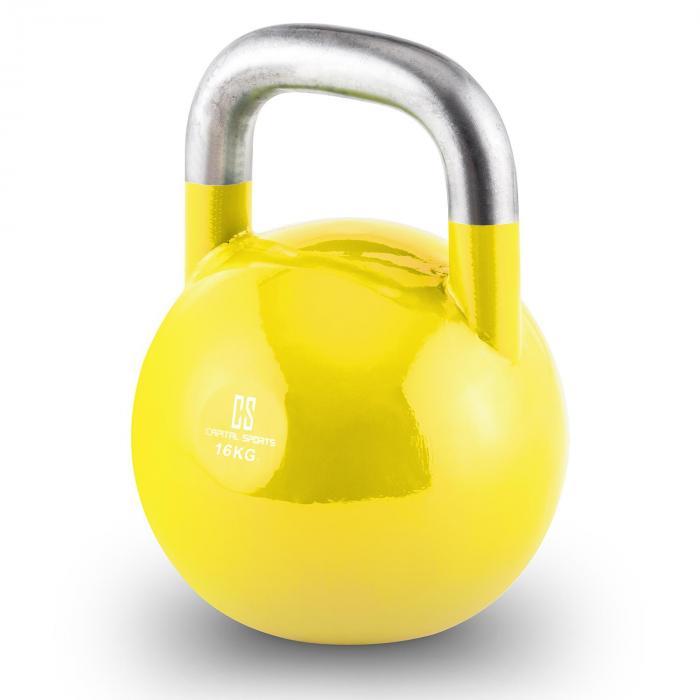 Compket 16 Competition Kettlebell Kugelhantel Stahl 16kg Gelb